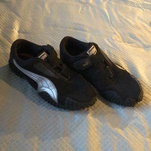 Black Puma Velcro Strap Sneakers size 6